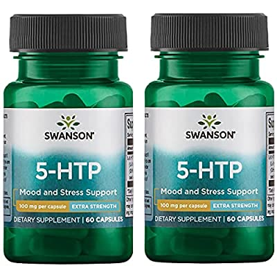 Swanson 5-Htp - Extra Strength 100 mg 60 Caps 2 Pack