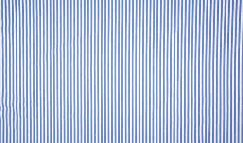 Qualitativ hochwertiger Baumwoll Stretch Stoff Streifen Blau/Weiß als Meterware zum Nähen von Baby, Kinder- und Damenkleidung, 50 cm