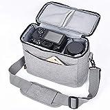 FOSOTO Bolsa impermeable para cámara réflex con cubierta para la lluvia, compatible con Nikon D3400, D5600, D5500, D7500, D750, D850, Canon EOS 4000D, 2000D, M50, Sony A7R A6400 y A6100.