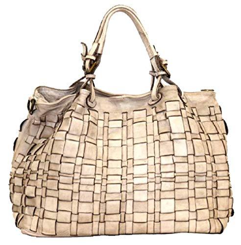 BZNA Bag Marta beige Italy Designer Damen Handtasche Schultertasche Tasche Schafsleder Shopper Neu
