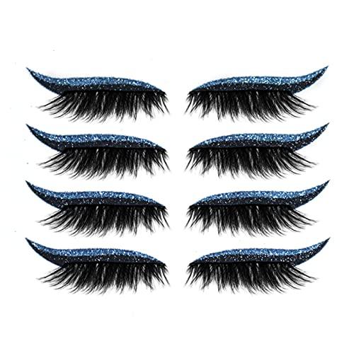 Wimperstickers, Wimpers Nerts, Herbruikbare Ooglid- En Wimperstickers Make-Upstickers, Vrouwen Make-Up Luie Eyeliner En Wimperstickers Blauw
