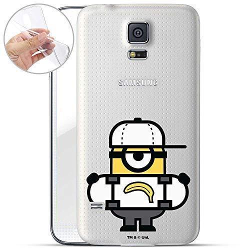 Hülle für Samsung Galaxy S5 Neo - Minions Handyhülle mit Motiv und Optimalen Schutz TPU Silikon Tasche Case Cover Schutzhülle - Banana Skateboard