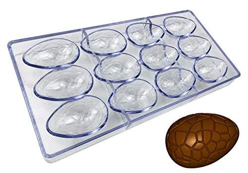 Molde para hacer caramelos, de policarbonato transparente, molde para hacer caramelos, gelatina, molde de 21 piezas Huevos de dinosaurio