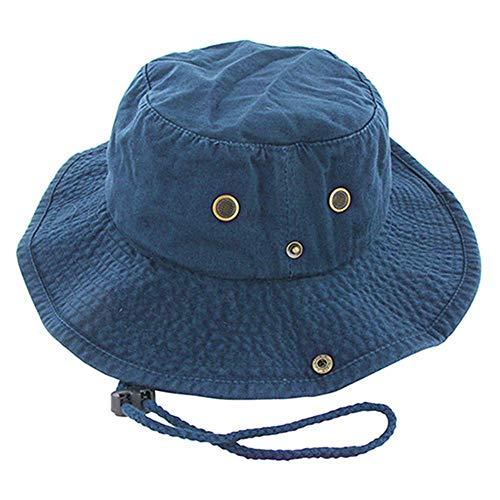 Bucket Hat Chapeau Protection Solaire Extérieure Cordon Chasse Décontracté Hommes Seau Chapeau Montagne Casquette Militaire Été Pêche Large Bord Marine