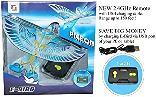 2.4GHz REMOTE CONTROL E-BIRD PIGEON with life-like flapping wing. Great kids gift for indoor & out door use.