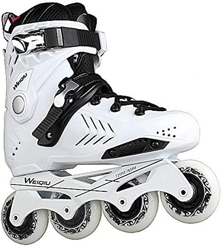 Roller Patins à roulettes - Chaussures de patinage de vitesse Skates en ligne pour les lames à rouleaux à une seule rangée adulte à roulettes professionnelles Fibre de carbone en ligne de carbone Spor