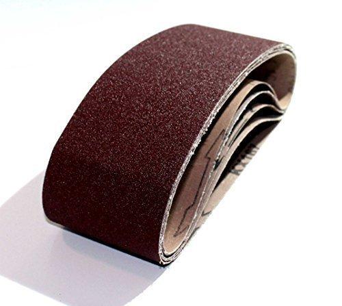 25 Gewebe - Schleifbänder 75x533 mm - Körnung je 5x Korn 40, Korn 60, Korn 80, Korn 120, Korn 180 | Mix | Schleifpapier | Schleifbänder | Bandschleifer