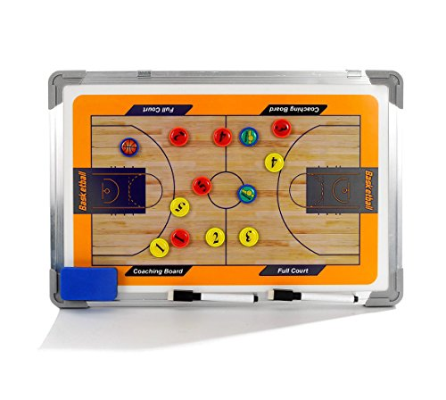 a-Nam Lavagna tattica per allenatori di basket, magnete Coaching Auto-bilanciante con telaio in lega di alluminio, pennarello e cancellino