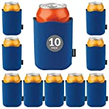 KOOZIE Fancy Edge Can Cooler 10 Pack Blank Beer Koozie for Cans and Bottles, Bulk Insulated Beverage Holder DIY Personalized Gifts for Events, Bachelorette Parties, Weddings, Birthdays [Royal Blue]
