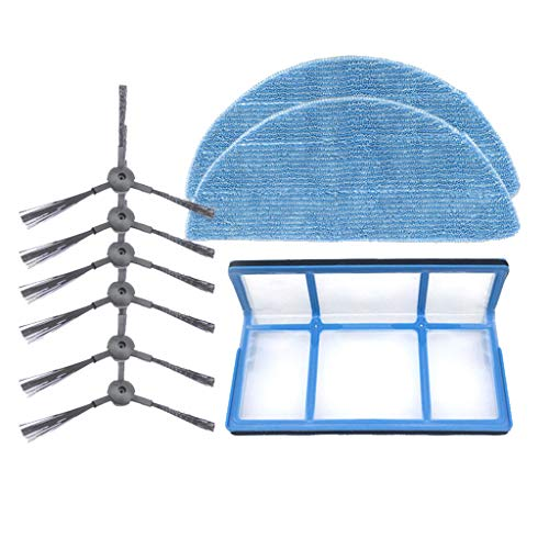 Kobay-Staubsaugerzubehör Mopp Seitenbürste Filterelement for Ilife 3SPRO V3S 5SPRO V50 V5S Kehrmaschine