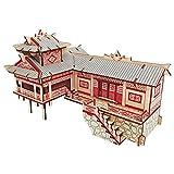 XJJSZJ Puzzles de Madera 3D Casas de zancos DIY 3D Rompecabezas de Madera Woodcraft Kit de ensamblaje Corte de Juguetes de Madera para Navidad