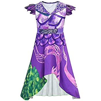 Disfraz de Dragon Mal Dress para niñas Adultas, Disfraz de ...