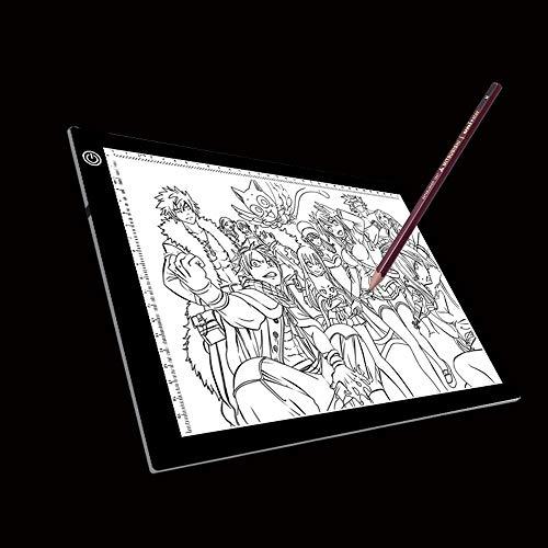 aizhinuo Tablero de dibujo digital Bloc de bocetos LED Tres niveles de brillo regulable Acrílico Copy Tablas Para Anime Sketch Dibujo Bloc de bocetos, Con cable USB y enchufe Dibujo Bloc de bocetos