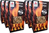 Masterpiece 6er Set Premium-Chips aus Apfelholz Apfel Smoking Chips Räucherchips aus 100% Natürlichen Smoker Holz in Größe ca. 30 mm - 6 x Verpackung ca. 750 g.