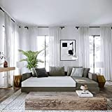 Classic Brands 4.5-Inch Memory Foam Replacement Mattress for Sleeper Sofa Bed Queen