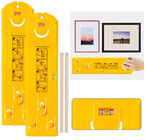 Bassion 2-Pack Picture Perfect Hanging System