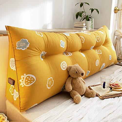 YLBH Cojín para mesita de noche, respaldo grande, cama de tatami, cabecera simple, paquete suave, cojín de respaldo, cojín triangular, doble 120 x 50 cm G
