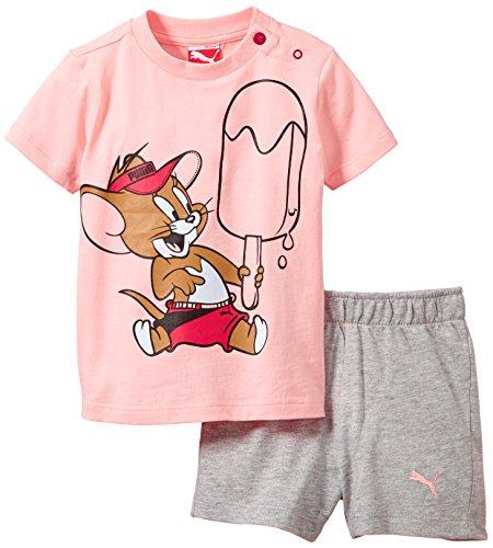 PUMA Baby Set Fun Tom und Jerry Junior, Crystal Rose-Light Gray Heather, 80