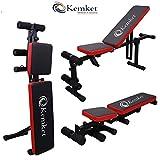 Banco de gimnasio, con altura e inclinación ajustables, ideal para abdominales, para...
