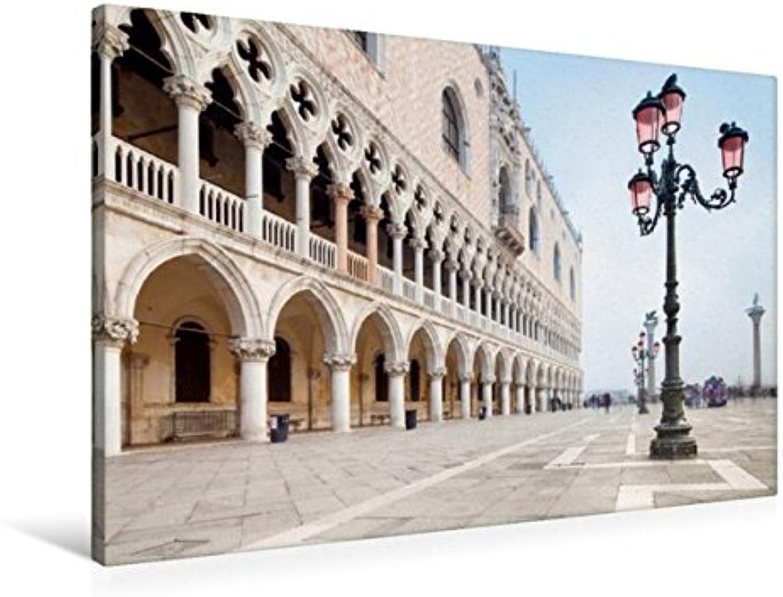 Calvendo Premium Textil-Leinwand 90 cm x 60 cm Quer, Piazza San Marco in Venedig, Italien   Wandbild, Bild auf Keilrahmen, Fertigbild auf Echter Leinwand, Leinwanddruck Orte Orte B01KXF412O Schön  | Verbraucher zuerst