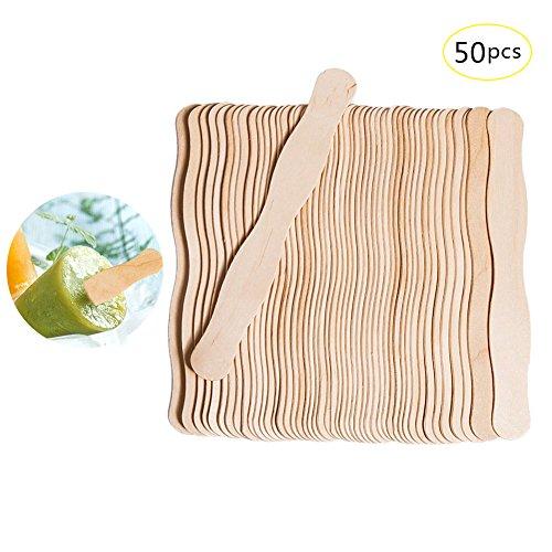 Jannyshop 50 Stück gewellte Holzstäbchen für Handwerk 7.87