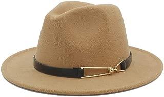 SHENTIANWEI Men Women Winter Wool Fedora Hat Panama Jazz Hat Wide Brim Fascinator Church Hat Casual Jazz Hat Size 56-58CM