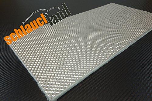 Schlauchland 1m x 0,5m Alu-Keramik Hitzeschutzmatte Ultra selbstklebend ***Turbo Auspuff Krümmer Isoliermatte Hitzeschutzfolie