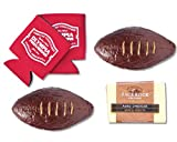"Olympia Provisions - ""Pig Skin"" Summer Sausage Football, Cheese, and Beer Koozie Gift Set"