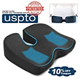 Mkicesky Seat Cushion for Office Chair, Memory Foam Coccyx Cushion Relieve Tailbone, Lower Back, Hip, Sciatica Pain, Ergonomic Seat Pad for Car, Wheelchair, Desk Chair and Sitting on Floor