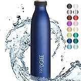 """720°DGREE Edelstahl Trinkflasche """"milkyBottle"""" - 1L - BPA-Frei, Auslaufsicher, Kohlensäure geeignet - Thermosflasche für Sprudel, Sport, Uni, Schule, Fitness, Outdoor, Camping"""
