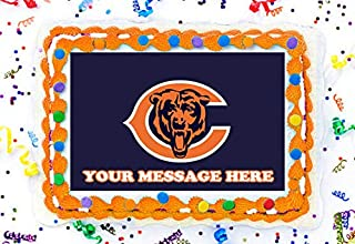 Chicago Bears Cake Topper Edible Image Personalized Cupcakes Frosting Sugar Sheet (8