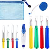 11 Pieces Seam Ripper, 4 Large and 4 Small Stitch Unpicker Seam Ripper with Thread Cutter, Soft Tape Measure and Storage Bag, for Quick Unpick Opening Removing Seams DIY Craft