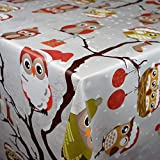 Mantel Hule Por Metro Navidad Búho c144340 tamaño SELECCIONABLE en Ovalado Rectangular Redondo -...