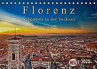 Florenz - Schoenheit in der Toskana (Tischkalender 2022 DIN A5 quer): Florenz - wunderschoen und das kulturelle Highlight in der Toskana (Monatskalender, 14 Seiten )