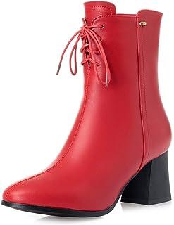 女性用レザーブーツ、冬用ブーツぬいぐるみコットンブーツ、レディースシューズハイヒールマーティンブーツ秋冬新革靴 (色 : A, サイズ : 38)