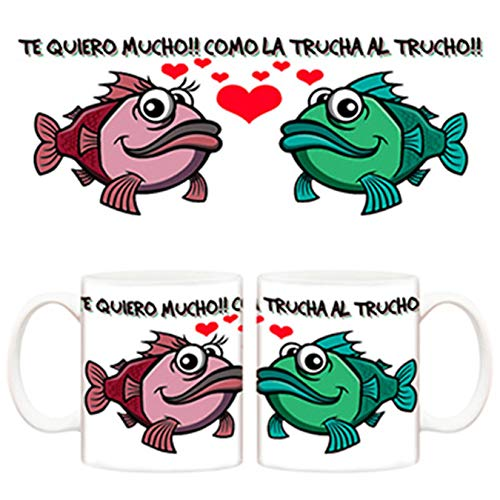 Diver Tazas Taza para Novio Te Quiero Mucho como la Trucha al trucho - Cerámica