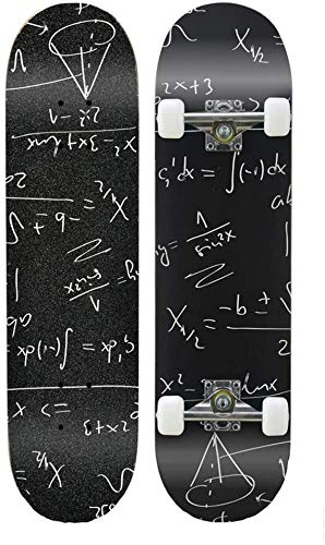 LINGZHI Freestyle Skateboard Longboard Brush Street Cruiser Tricks Skate-Brett for Teens Anfänger Mädchen Jungen Kinder Teens Erwachsene, 31 x 7,8 Zoll Max Last 150kg (Color : A)