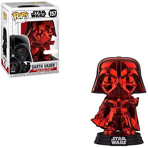 Funko - Figurine - Star Wars - Darth Vader Red Chrome Exclusive Pop 10cm - 0889698380195
