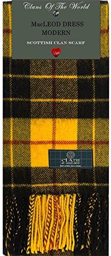 I Luv Ltd MacLeod Dress Modern Tartan Clan Scarf 100% Soft Lambswool
