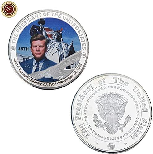 WR John F. Kennedy desafía Monedas de Metal, el 35 ° Presi