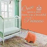 Princesa Imperial Crown Vinilo Pared Pegatina Pared Arte Papel Tapiz Para Niños Niñas Habitación Pared Calcomanía Decoración Decoración Del Hogar 42 * 71 Cm
