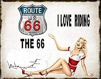 Highway Route 66 ティンサイン ポスター ン サイン プレート ブリキ看板 ホーム バーために