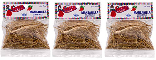 Bolner's Fiesta Extra Fancy Manzanilla (Chamomile) for Tea - 1/4 Ounce Packets (Pack of 3)