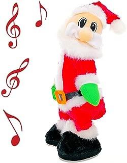 Kinteshun Twerking Christmas Santa Musical Doll,Dancing and Singing Xmas Plush Electric Toy Funny Gift(English Song)