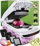 4 interchangeable blades let you julienne, chop and slice vegetables with ease. Built-in chop lid lets you cut foods directly into the 1.2L collection tray without the mess of a knife and cutting board. Storage container lets you hold prepared vegeta...