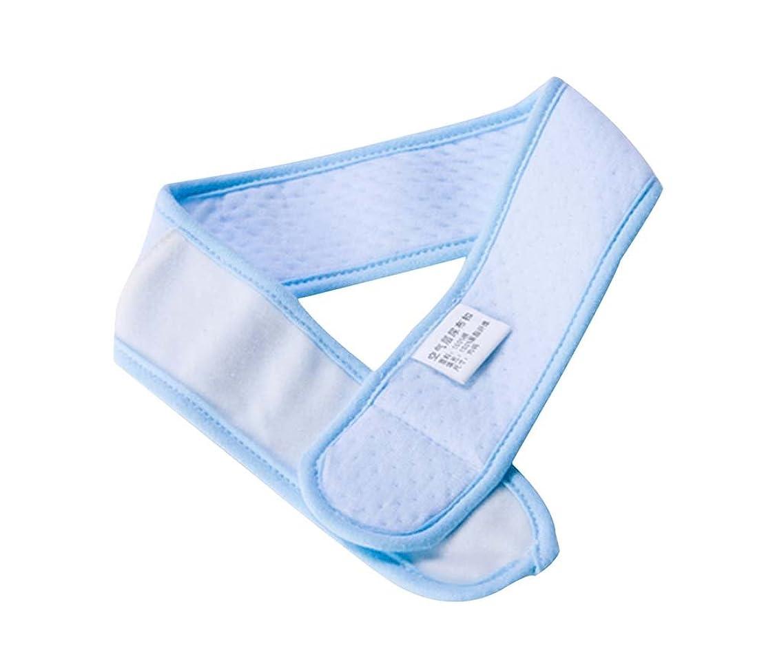 傾斜午後石2個新生児おむつファスナー快適な綿おむつ固定ベルト、青