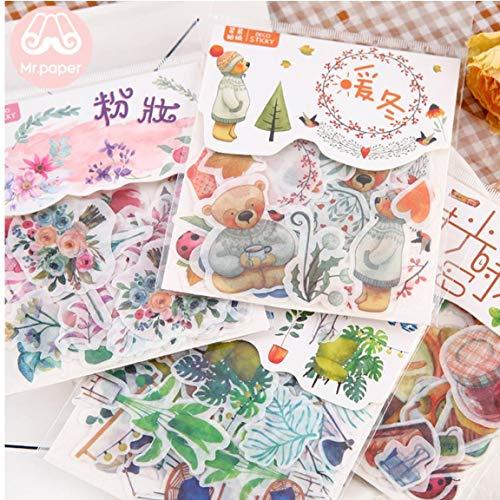 40pcs Etiquetas Engomadas Del Diario Litografías De La Serie Japonés Kawaii Papeleria