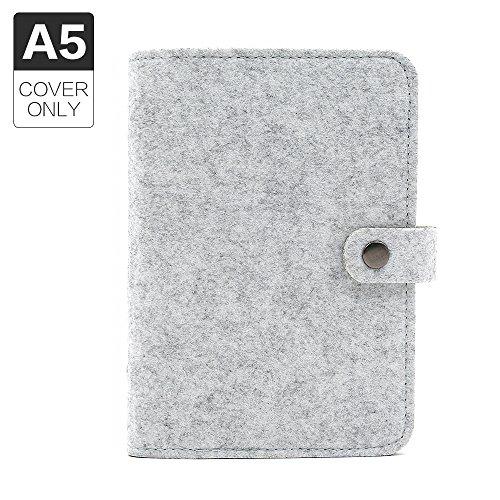 Notizbuch mit 6-Loch-Bindung in A5, ohne Seiten zum Füllen A5 Grey