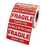 10 pcs Etichette Autoadesive Fragile Maneggiare con Cura per Imballaggi Box Spedizioni Adesivi Impermeabili Dimensioni 76x51mm