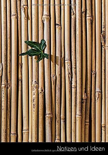 Notizen und Ideen: Bambus Notizbuch | Skizzenbuch | Zeichenbuch | Malbuch Din A5, Blanko. Nachhaltig & Klimaneutral.